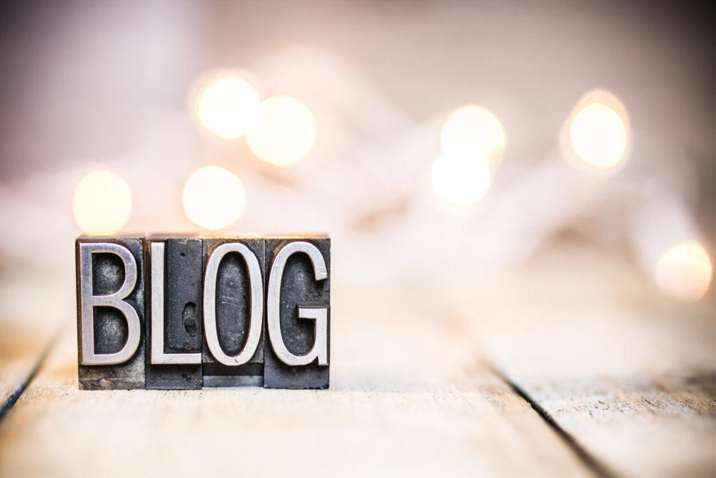 Blog letter stamps spelling the word blog | Terra Cotta's new blog!
